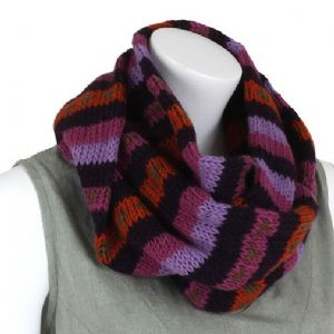 Hippy Scarf~ Winter Woolen Purple and Pink Snood Scarf and Hood~ By Folio Gothic Hippy NW18B